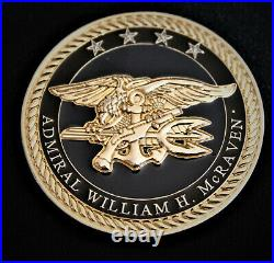 REAL Admiral William McRaven Special Operations Command Navy SEAL Challenge Coin