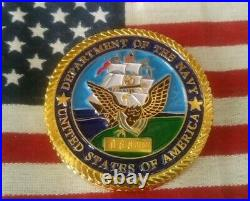 RUFUS JOHNSON Adm Navy Very Rare #68/100 MEDAL OF HONOR CHALLENGE COIN Item#7404