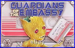 Rare 3.5 USMC/USN Military Challenge CoinGuardians of the Embassy EGA