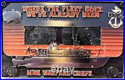 Rare 3 Navy USN CPO Chief Challenge Coin Guardian of the Seas Mine Warfare