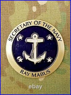 Rare, 4 Star Secretary Of The Navy, Usmc, Ray Mabus, Challenge Coin