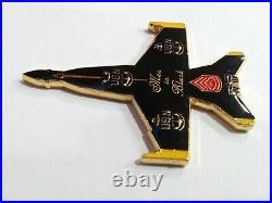 Rare Challenge coin USN Blue Angels / Men in Black Jet Shape