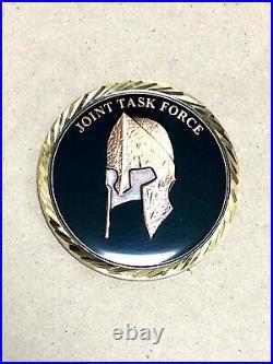 Rare DEVGRU Black Squadron Task Force Challenge Coin Navy SEAL ST6 NSWDG CIA