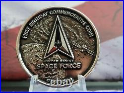 Rare! Department Of Defense United States Space Force Coin and Anniversary Coin