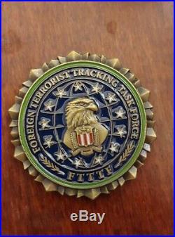 Rare FBI FTTTF Challenge Coin, DEA, USSS, DOS, USMS, CIA, DIA, NGA, ARMY, NAVY