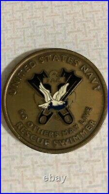 Rare United States Navy SAR Surface Rescue Swimmer Challenge Coin (preowned)