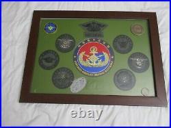 Republic of Korea Navy SEAL Special Warfare Flotilla Challenge Coin Patch Framed