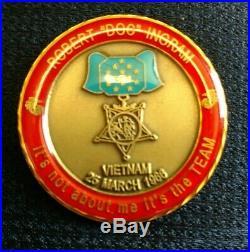 Robert Doc Ingram Navy Corpsman Usmc Medal Of Honor Challenge Coin Item#4403