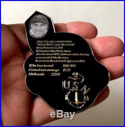 Robert Feller Navy Cpo Chief Wahoo Mlb Baseball Cleveland Indians Challenge Coin