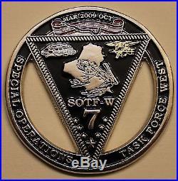 SEAL Teams Seven & Ten Special Warfare SOTF-W Navy Challenge Coin / 7 / 10