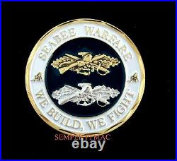 Seabee Warfare Challenge Coin We Build, We Fight Us Navy Coin Can Do Gift Sailor