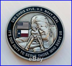 Seal Team 3 Navy Seals Chris Kyle Ck 2016 Memorial Sniper Nsw Cpo Challenge Coin