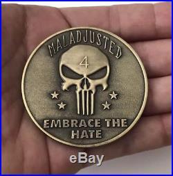 Seal Team Navy Seals Special Warfare 4 Nsw Punisher Challenge Coin Kyle Non Cpo