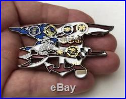 Seal Team Nsw Usn Naval Special Warfare Group 2 Trident Bone Frog Challenge Coin