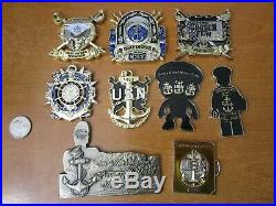 Set of 9 USN Navy Chief Petty Officers CPO Challenge Coins