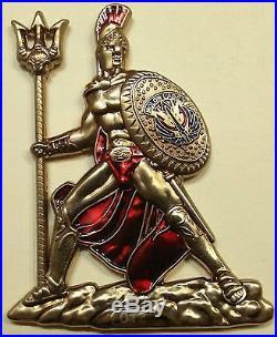 Spartan Warrior Molon Labe ser#012 SEAL Teams Navy Challenge Coin