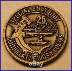 Special Boat Unit SBU-26 Special Warfare SWCC Panama Navy Challenge Coin SEALs