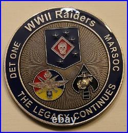 Special Operations Marine Raider MARSOC Detachment 1 Challenge Coin / Navy