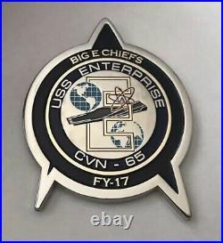 Star Trek FY-17 USS Enterprise CVN-65 Navy CPO Mess Big E Chiefs Challenge Coin