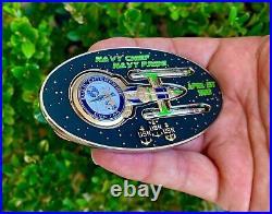 Star Trek Space Ship USS Enterprise CVN-65 Navy CPO Chief Challenge Coin FBI CIA
