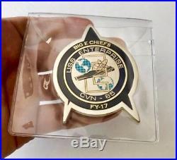 Star Trek Uss Enterprise Cvn-65 Navy Cpo Fy-17 Big E Chiefs Mess Challenge Coin