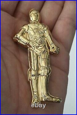 Star Wars C3PO Robot Droid Jedi USN Mess CPO Challenge Coin No NYPD CIA Police