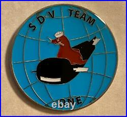 Sub / SEAL Delivery Vehicle Team One SDVT-1 Intelligence N2 Navy Challenge Coin