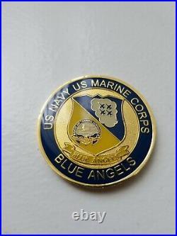 Super Rare US Navy Blue Angels Challenge Coin