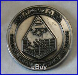 Survival Evasion Resistance & Escape SERE Brunswick Maine Navy Challenge Coin
