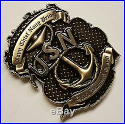 USMC US Navy Chiefs CPO CPOA Don't Tread On Me Coin Snake & Flag In High Relief