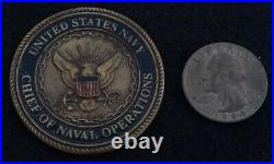 USN CNO Chief of Naval Operations 4 Star Admiral Vern Clark Navy Challenge Coin