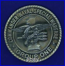 USN Commander Naval Special Warfare Group One SEAL Challenge Coin M-1