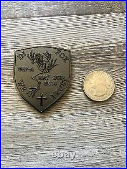 USN NAVY SEAL Team One 1 Foxtrot Platoon OEF-A AFGHANISTAN Shield Coin RARE