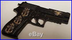 USN Navy SEAL TEAMs Navy Chief Tactical Pistol Serial# 082 / 100 DEVGRU Coin