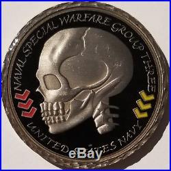 USN Navy SEALs NAVSPECWARGRU-3 Naval Special Warfare SKULL 3 1st Class Mess #001