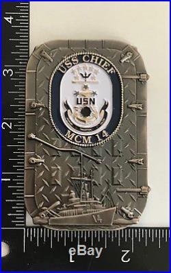 USN Navy USS Chief FCPOA MCM 14 AVENGER CLASS MINE COUNTERMEASURES Japan Coin