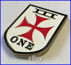 USN SEAL Team III ST3 One Troop Crusader Cross w 3D Trident