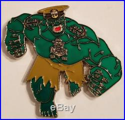 USN US Navy Chief Naval Pride The Incredible Hulk Shaped Challenge Coin