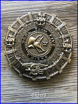 USN US Navy SEAL Team Five 5 ST5 STV USN Chiefs Jackal Aztecs Coin RARE