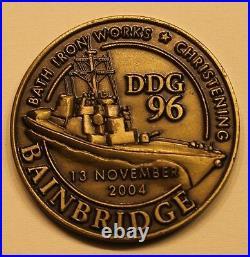 USS Bainbridge (DDG-96) Bath Iron Works Navy Challenge Coin