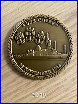 USS Chief (MCM-14) Chief's Mess Navy Challenge Coin