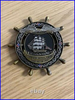 USS Constitution Old Ironsides Chief's Mess Navy Challenge Coin