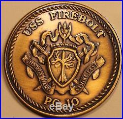 USS Firebolt (PC-10) Coastal Patrol Naval Special Warfare Navy Challenge Coin