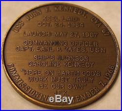 USS John F. Kennedy CV-67 Serial #14 Vietnam Era Navy Medal / Challenge Coin JFK