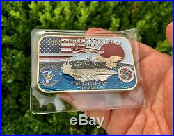 USS Kitty Hawk CV-63 Battle Cat Navy Ship Aircraft Carrier CPO Challenge Coin