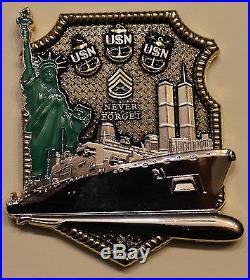 USS New York (LPD-21) Chief's Mess CPO Navy Challenge Coin