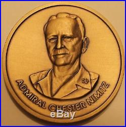 USS Nimitz (CVN-68) Commanding Officer Bonze Navy Challenge Coin