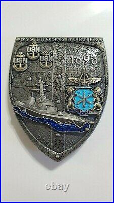 USS Thomas Hudner (DDG 116) and VFA-32 CPO Mess Navy Chief Challenge Coin Set