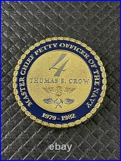 US NAVY MCPON 4 FOUR Thomas S Crow 1979-1982 Master Chief Challenge Coin Rare