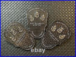 US NAVY NSW Naval Special Warfare Coronado CPO Mess Chief Challenge Coin Skulls